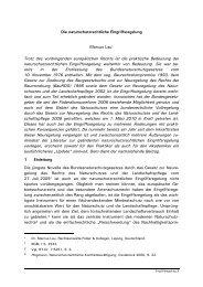 Die naturschutzrechtliche Eingriffsregelung Marcus Lau* Trotz des ...