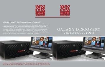 GALAXY DISCOVERY - Galaxy Control Systems