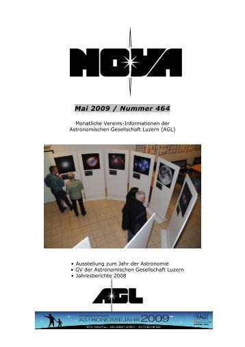 Nova 464 Mai 2009 definitiv - Astronomische Gesellschaft Luzern