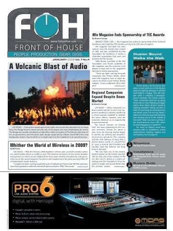 A Volcanic Blast of Audio - FOH Online
