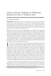 Chinese Strategic Thinking on Multilateral Regional Security in ...