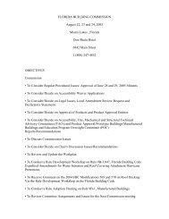 Agenda - Florida Building Code Information System