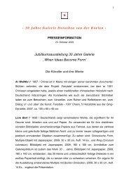 Die Künstler und ihre Werke - Galerie Dorothea van der Koelen