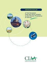 Memorandum FIN - FoodDrinkEurope
