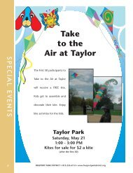 Take to the Air at Taylor - Freeport Park District