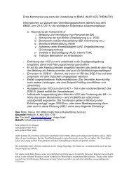 Erste Kommentierung nach der Vorstellung im BMAS (NUR VGS ...
