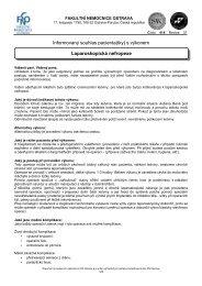Laparoskopická nefropexe - Fakultní nemocnice Ostrava