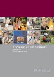 Fitzwilliam College, Cambridge - Fitzwilliam College - University of ...