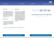 Online-Bewerbung an der TU München - Technische Universität ...