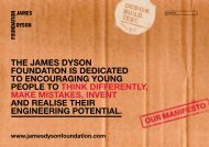 THE JAMES DYSON FOUNDATION IS DEDICATED TO ...