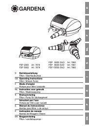 OM, Gardena, Pompa per filtri e per ruscelli, Art 07878-20, Art 07879 ...