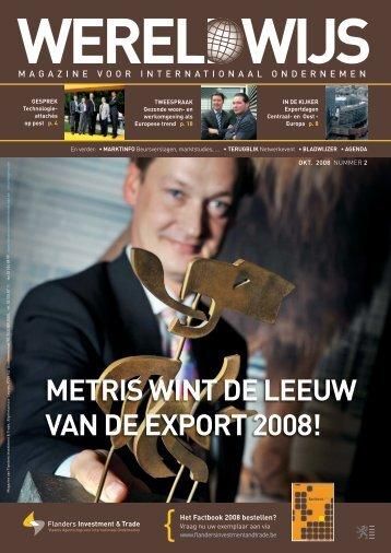 METRIS WINT DE lEEuW vAN DE ExPORT 2008! - Flanders ...