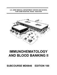 immunohematology and blood banking ii - Survival & Self-Reliance ...