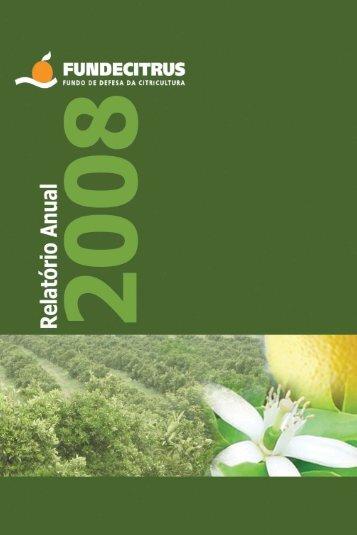 Relatório Anual 2008 - Fundecitrus