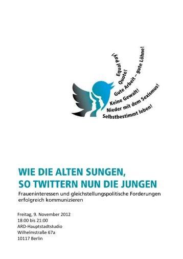 Freitag, 9. November 2012 18:00 bis 21:00 ARD-Hauptstadtstudio ...