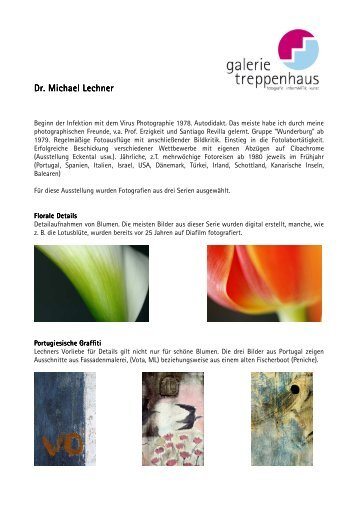 Dr. Michael Lechner Dr. Michael Lechner - Galerie im Treppenhaus