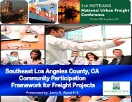 Community Participation Framework For Freight Projects