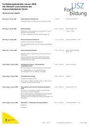 Fortbildungskalender Januar 2005 der Kliniken und Institute des ...