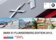 BMW X1 FluMsErBErg Edition 2013. - Auto Walser AG