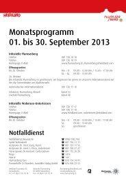 Monatsprogramm 01. bis 30. Juni 2013 - Flumserberg