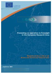 Promoting co-operation in Foresight in the European Research Area ...