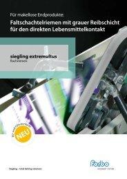PDF | DE | 258 KB - Forbo Siegling