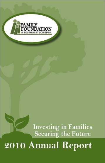 2010 Annual Report - Family and Youth Counseling Agency
