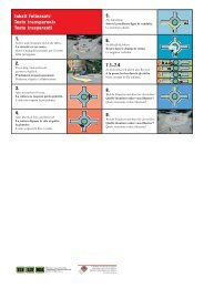 A vélo dans un giratoire, jeu de transparents (fichier pdf, 440KB)