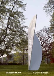 Download 2010 PDF - Fondation Beyeler