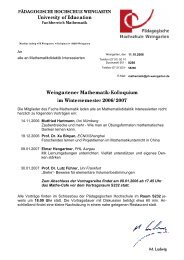 Kolloquiumsvorträge als pdf-Datei... - Mathematik - Pädagogische ...