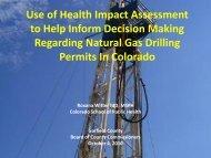 health impacts - Garfield County, Colorado