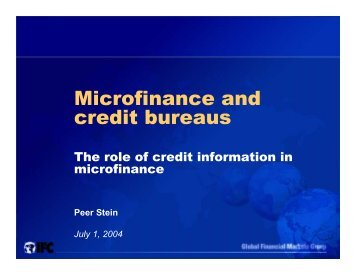 Microfinance and credit bureaus - Fiscal Reform