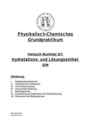 Hydratations- und Lösungsenthalpie - funnycreature.de