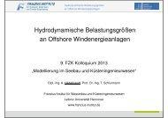 Hydrodynamische Belastungsgrößen an Offshore ...
