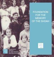 Download our brochure - Fondation pour la Mémoire de la Shoah