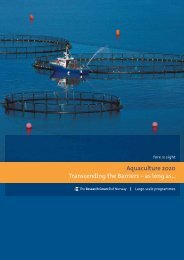 Aquaculture 2020 Transcending the Barriers – as long as...