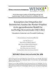 Konzeption einer Integration der theoretischen Ansätze des Wenke2 ...