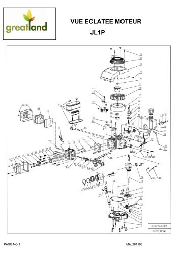 Vue eclatee motobineuse mtb35 - Vue eclatee moteur ...
