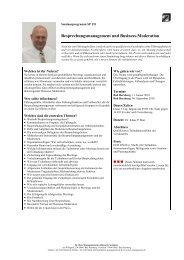 Besprechnungsmanagement und Business-Moderation ...