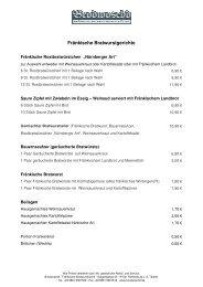 Fränkische Bratwurstgerichte - Frankenradar