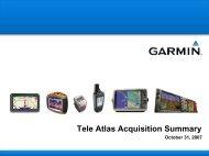 Tele Atlas - Garmin
