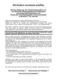 bremer manifest von 2007 - Freinet-Kooperative eV