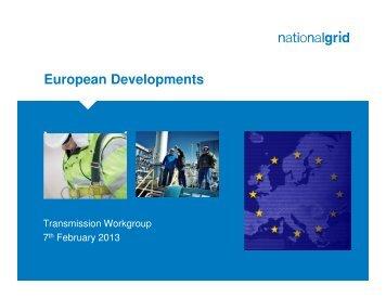 30 January 2013 EU Update (provided by National Grid NTS)