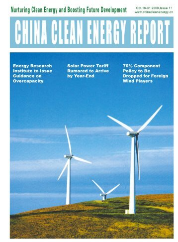 China Clean Energy Report - Asia Europe Clean Energy (Solar ...