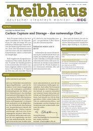 Carbon Capture and Storage – das notwendige Übel?