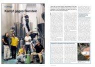 Zapfanlagen Kampf gegen Bierstein - Hotel & Gastro Union