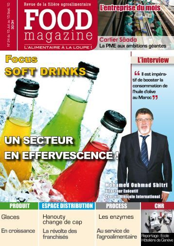 soft drinks un secteur en effervescence - FOOD MAGAZINE