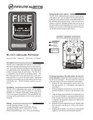 BG-12LX Addressable Pull Station - Fire-Lite Alarms