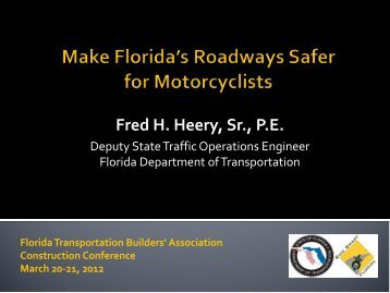 MOT Session Motorcycle Safety - Florida Transportation Builders