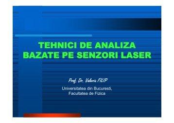 Tehnici de analiza bazate pe senzori laser - Facultatea de Fizica